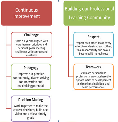 continuous improvement and building our professional learning community